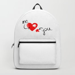 Me and You Missing Piece to my Heart Design Backpack