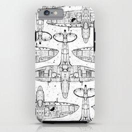 Spitfire Mk. XIV (black) iPhone Case