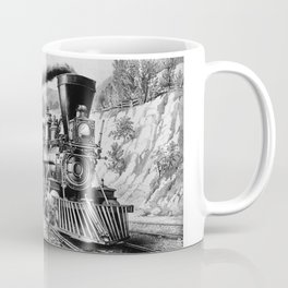 The Express Train: Currier & Ives 1870 Coffee Mug
