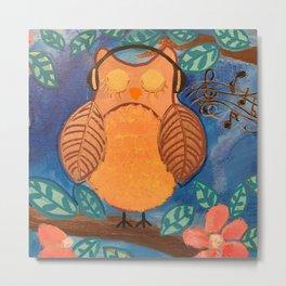 Owl Always Love Music Metal Print