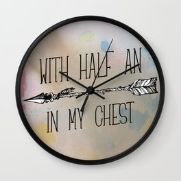 With half an arrow in my chest. Louis Tomlinson. Tattoo. (Larry Stylinson) Wall Clock