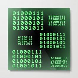 Binary code for GEEK Metal Print