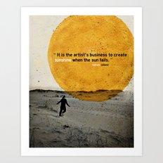 sunshine Art Print