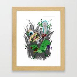 Chainsaw Jack Attack Framed Art Print