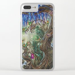 Whispers of the Wisteria Clear iPhone Case