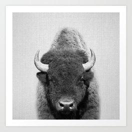 Buffalo - Black & White Art Print