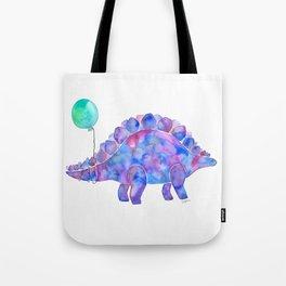 Tie Dye Stegosaurus with Balloon Tote Bag