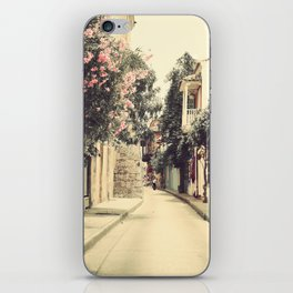 Just like a dream street, Cartagena (Retro and Vintage Urban, architecture photography) iPhone Skin