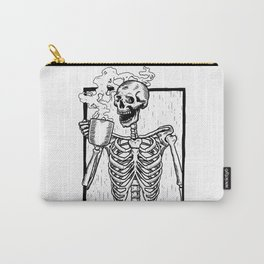 Skeleton Drinking a Cup of Coffee Carry-All Pouch