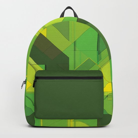 So Abstract, So Green Backpack