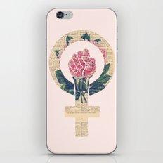 Respect, equality, women's liberation. Feminism Power Fist / Raised Fist iPhone & iPod Skin