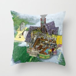 Up - Carl's House Cross-Section Throw Pillow