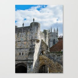 York Minster and Bootham Bar Canvas Print