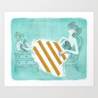 tiffany Art Prints featuring Tiffany by Shaina Anderson