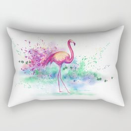 Messy Flamingo Rectangular Pillow