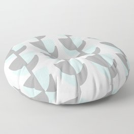 Tulips In Spring Time - Grey and Blue on White - Spring Time Series Floor Pillow