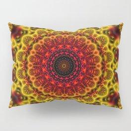 Fiery Fractal Mandala Pillow Sham