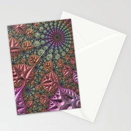 funky fractal Stationery Cards