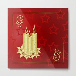 Candles on stars Metal Print