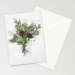 Greens of Christmas Stationery Cards