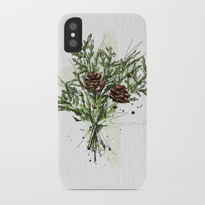 greens of christmas iphone case