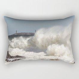 Huge waves on the backshore Rectangular Pillow