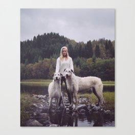 Torunn and the giants Canvas Print