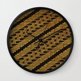 Traditional Art Indonesian Batik Wall Clock