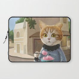 Yummy ice cream and a Cat Laptop Sleeve