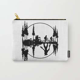Upside down, Steve and the gang on bicycles, Stranger thing gift Carry-All Pouch