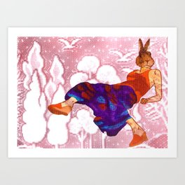 relaxed bunny Art Print