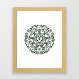 Garden Mandala Framed Art Print