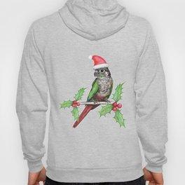 Christmas green cheeked conure Hoody
