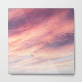 Aerial Photography Beautiful Purple Pink Whimsical Sky Metal Print