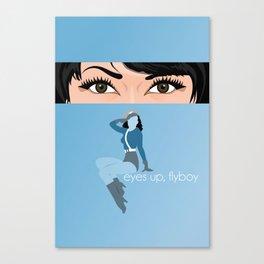 Eyes up, flyboy Canvas Print