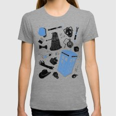 Artifacts: Doctor Who LARGE Tri-Grey Womens Fitted Tee
