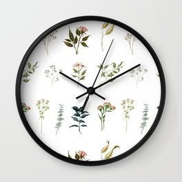 Delicate Floral Pieces Wall Clock