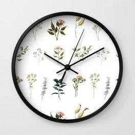 Delicate Floral Pieces Wall Clock