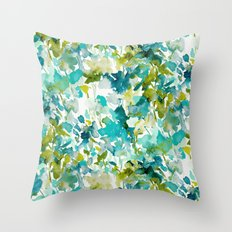 Local Color (Teal) Throw Pillow