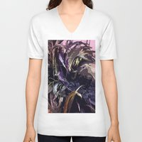 headdress V-neck T-shirts featuring Feather Headdress  by TheBigBear