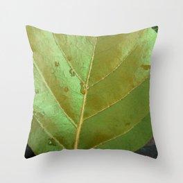 Sea Grape Leaf Throw Pillow