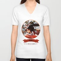 league of legends V-neck T-shirts featuring League Of Legends - Akali by TheDrawingDuo
