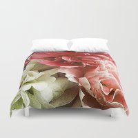 peonies Duvet Covers featuring Peonies by Elliott's Location Photography