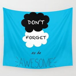DFTBA TFIOS Nerdfighter Vlogbrothers Don't Forget to be Awesome, The Fault in Our Stars, John Green Wall Tapestry