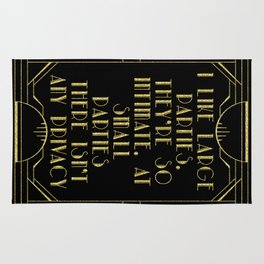 I like large parties - The Great Gatsby Rug