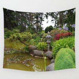 Japanese Garden Lantern Wall Tapestry