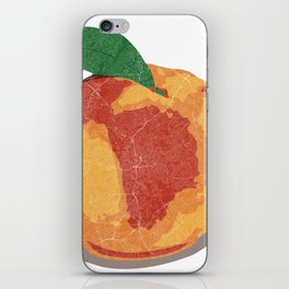 Peach Map iPhone Skin