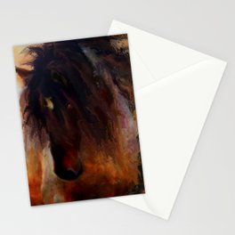 Mustang horse - wild horse - Pumpkin Stationery Cards