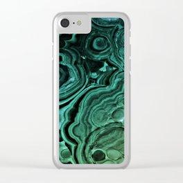 MALACHITE GREEN Clear iPhone Case