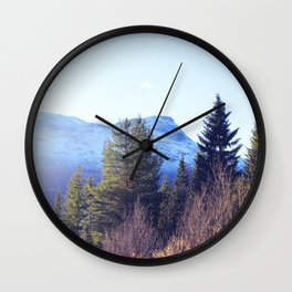 Närvik Mountains and Forest Wall Clock